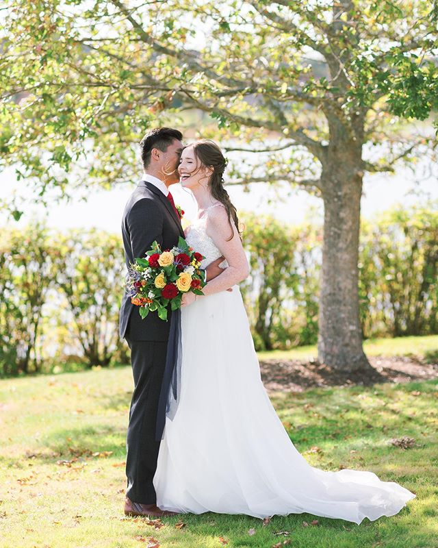 These two said their vows yesterday in an intimate ceremony, surrounded by loved ones who flew in from all over the world to be there with them. What a special day - congratulations Rachel and Kevin! ❤️🎉 . MUA: @chantellebrownmakeup  Hair: @heiditaverner  Dress: @chesterandfelicity  Florals: @kokomodfloral . . #halifax #chasinglight #halifaxweddingphotographer #c1ickmatch #weddinginspo #halifaxweddingphotographers #halifaxphotographer #weddingphotography #halifaxweddings #shesaidyes #postthepeople #brideandgroom #weddingstyle #weddingplanning #soloverly #weddingwire #ohwowyes #weddingportraits #weddingideas #pursuepretty #portraitkillers #weddingdress #theknot #weddingflowers #risingtidesociety #weddingchicks #flashesofdelight #countrywedding #destinationweddingphotographer #petitejoys