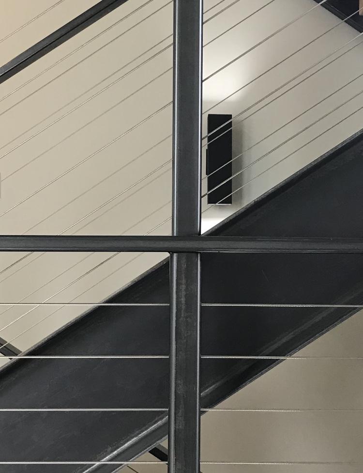 Vertical post alignment across 3 floors