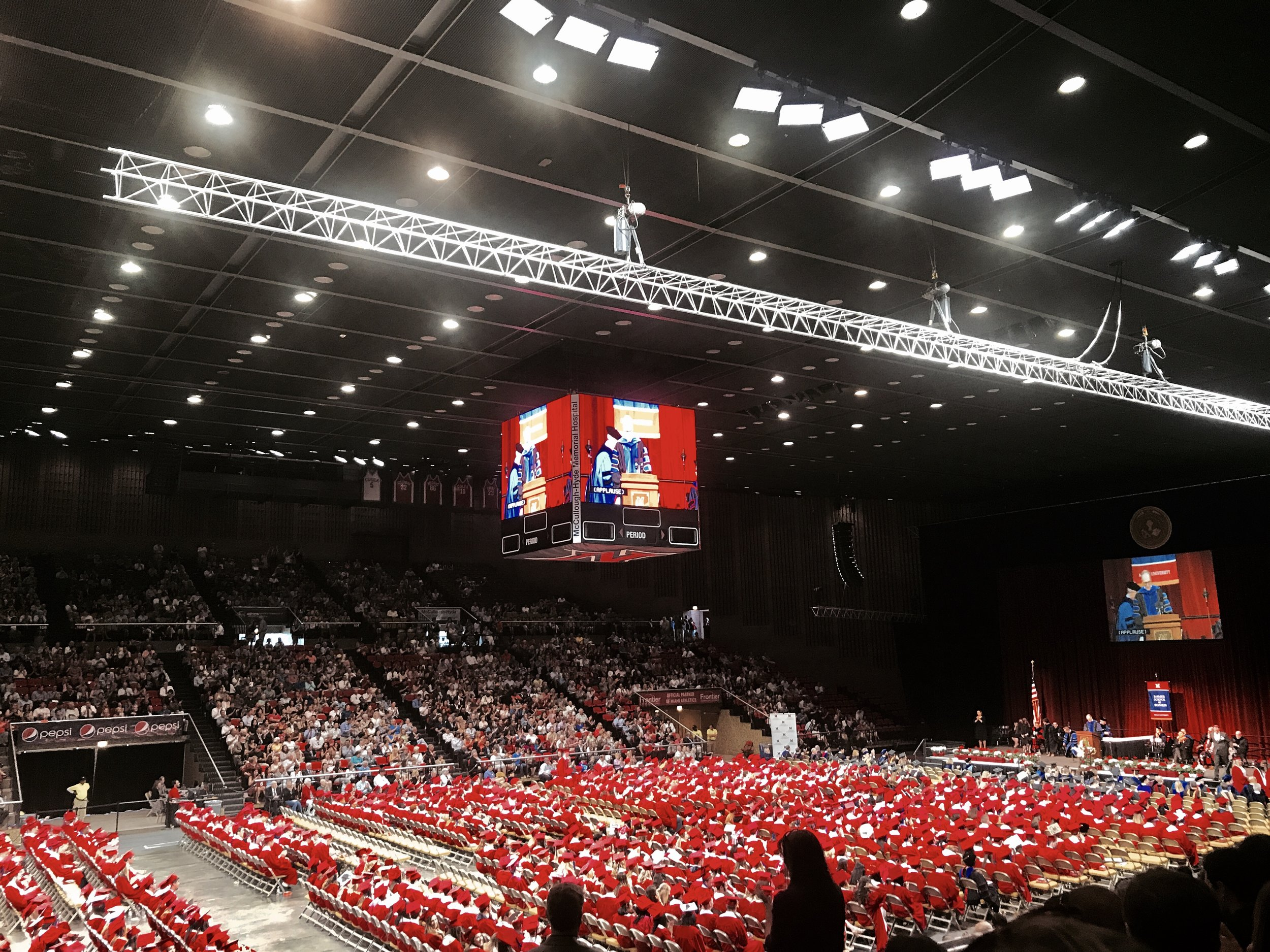 The Farmer School of Business commencement at Millet Hall.