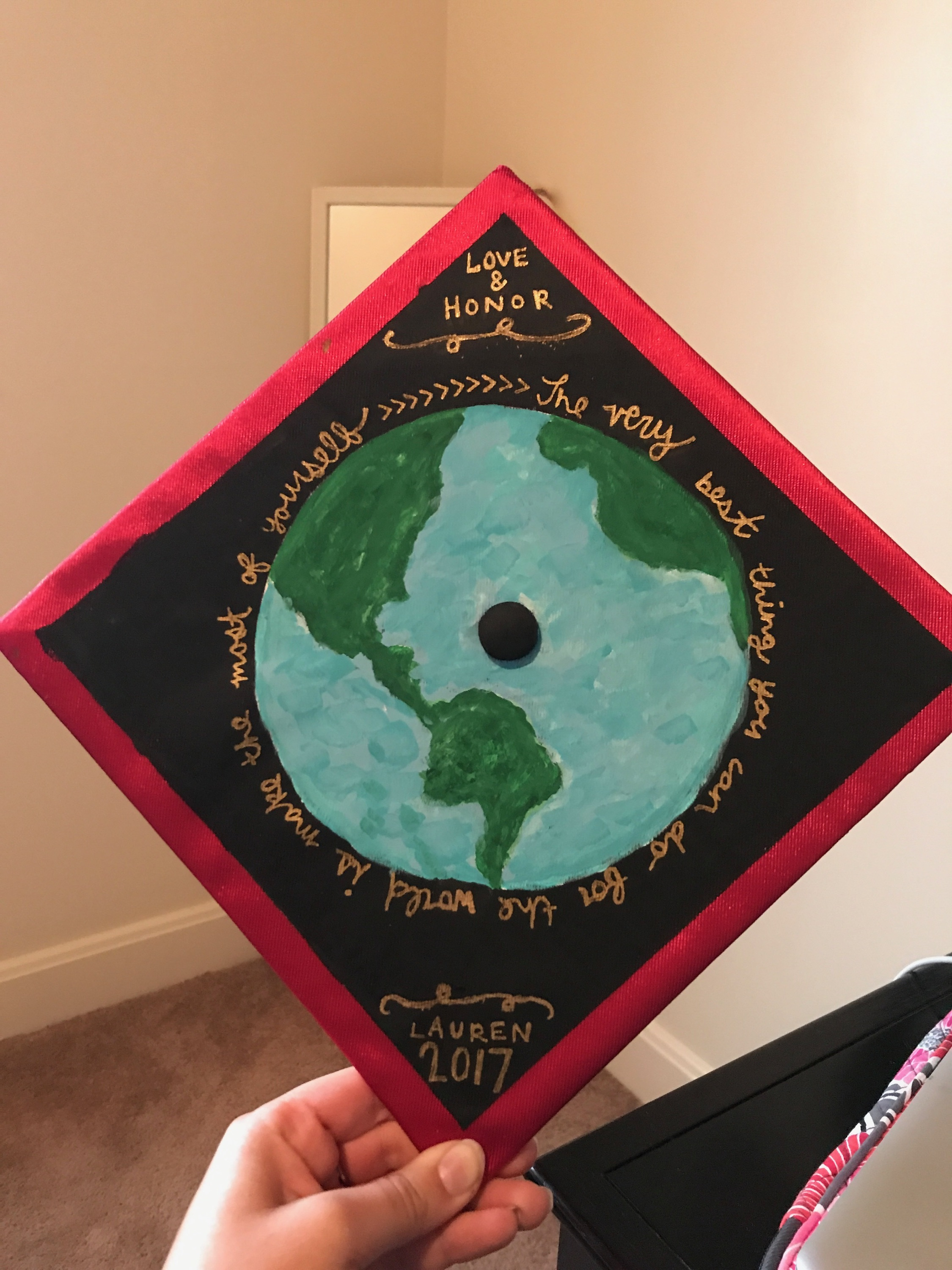 Lauren's graduation cap.
