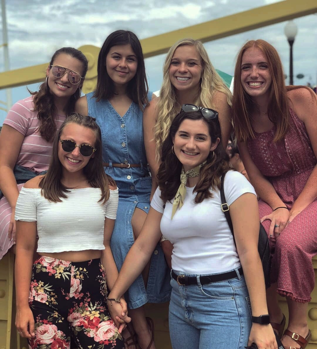 Me (top far left) and my beautiful friends: Alyssa (next to me), Melissa (next to Alyssa), Marj (top far right), Delaney (bottom right), and Danielle (bottom left)