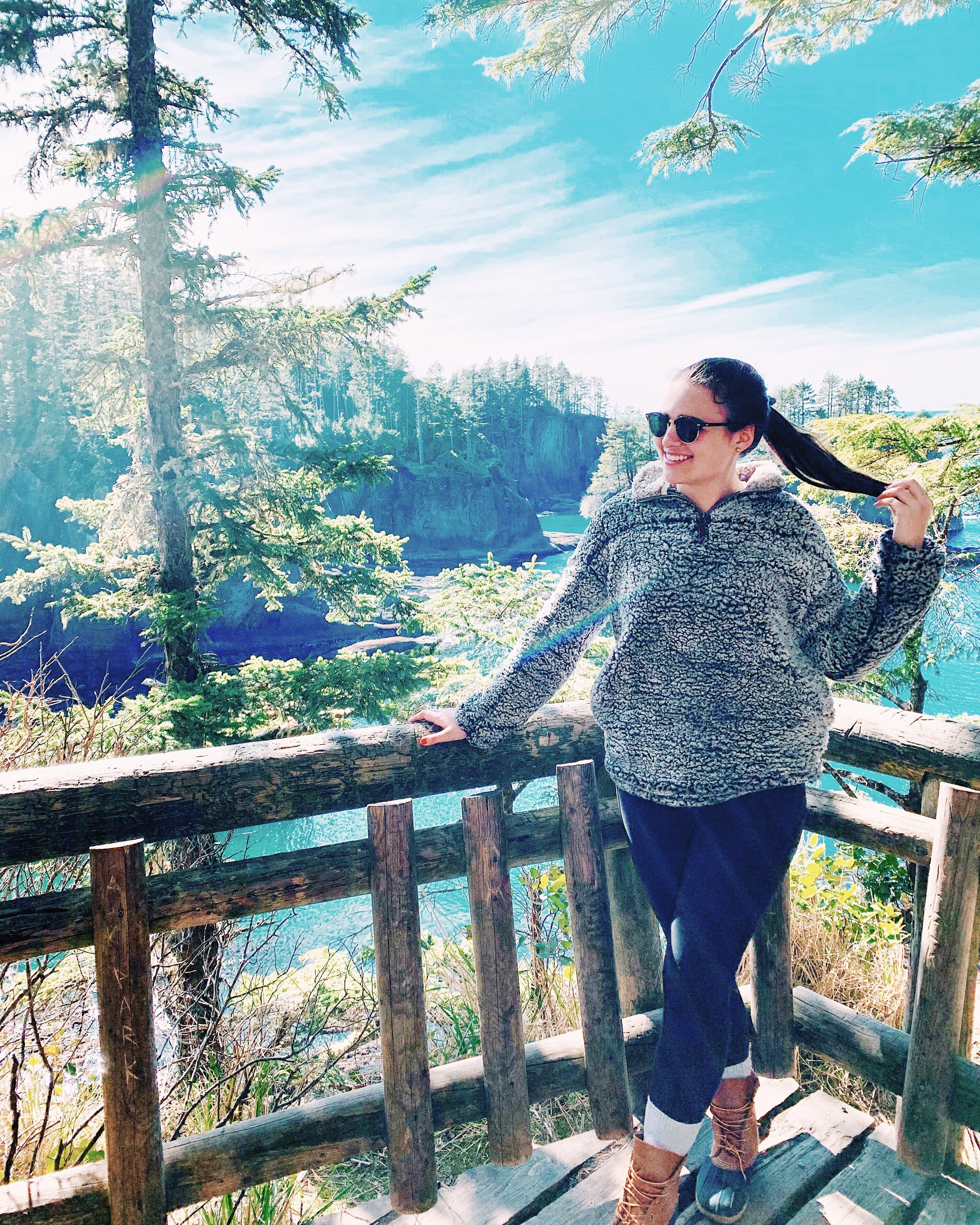 Cape Flattery, where we saw the bald eagle!