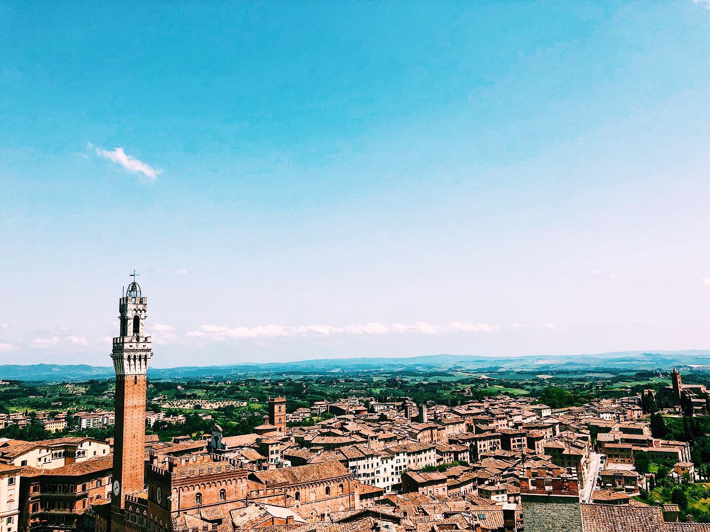 View of Siena from Facciatone