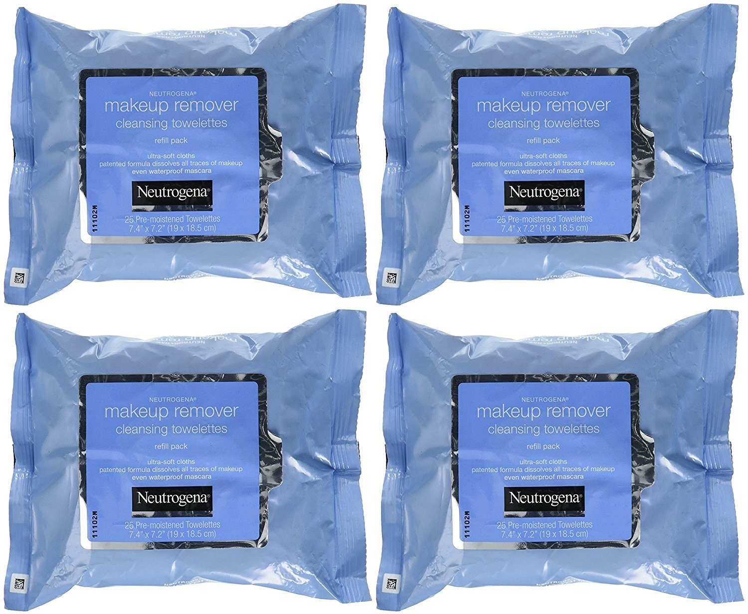 Neutrogena  | Makeup Remover Cleansing Towelettes 25 ct (Pack of 4) |  $21.82