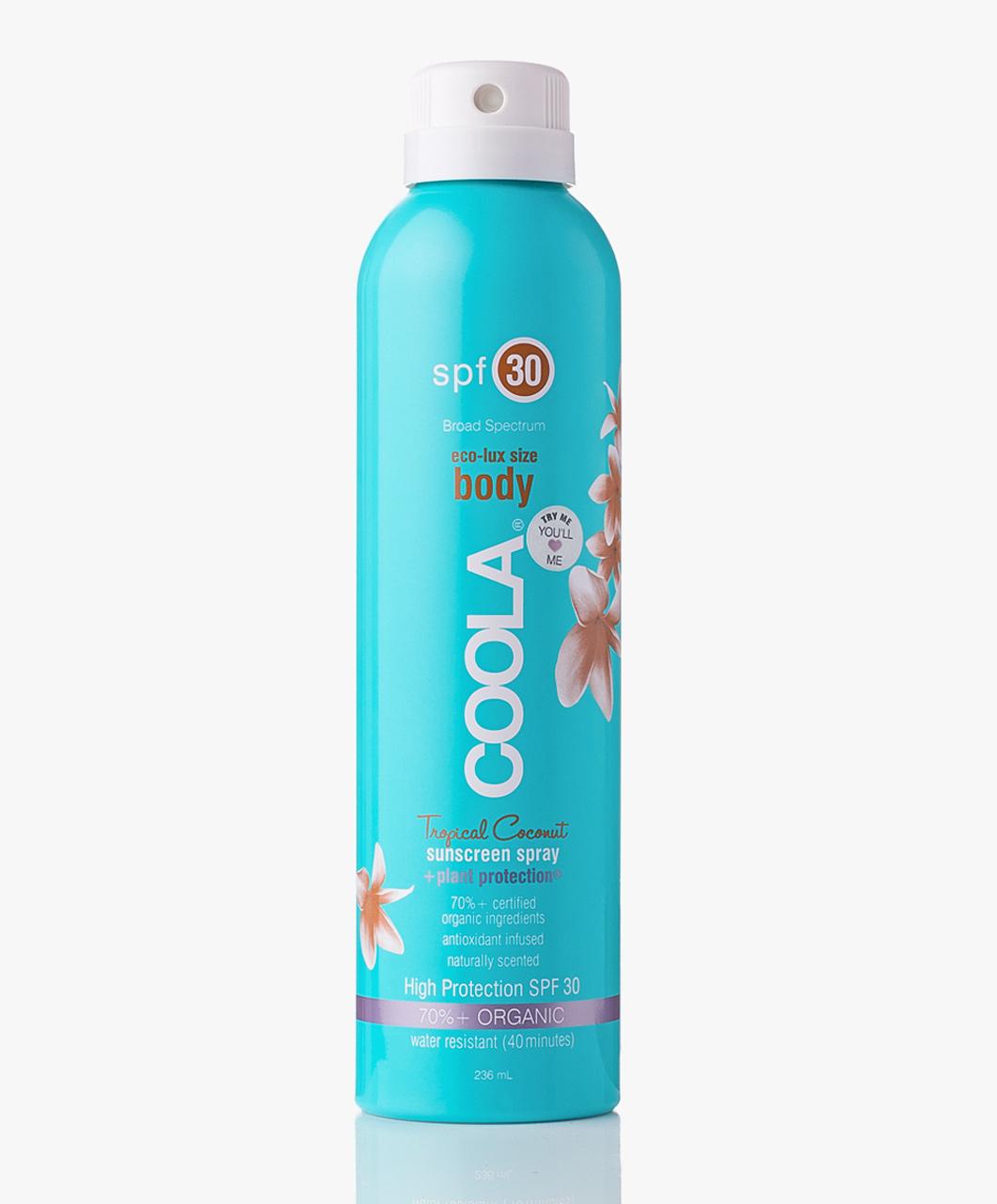 Coola Suncare  | eco-lux sport Spray SPF30 Tropical Coconut |  $36.00