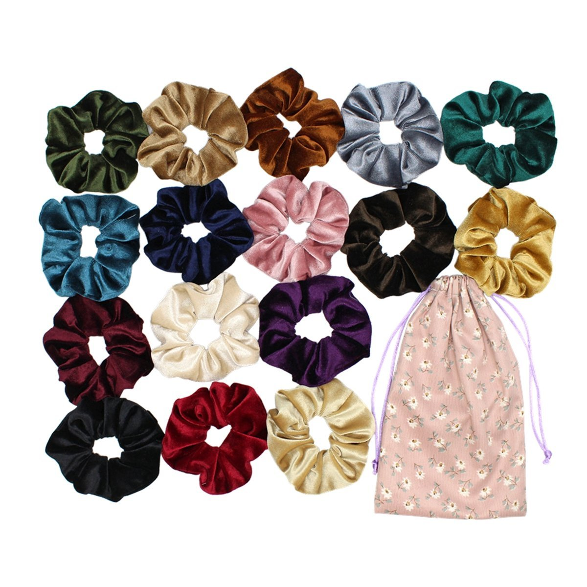Chant Way  — Velvet Hair Scrunchies Set—  $12.99