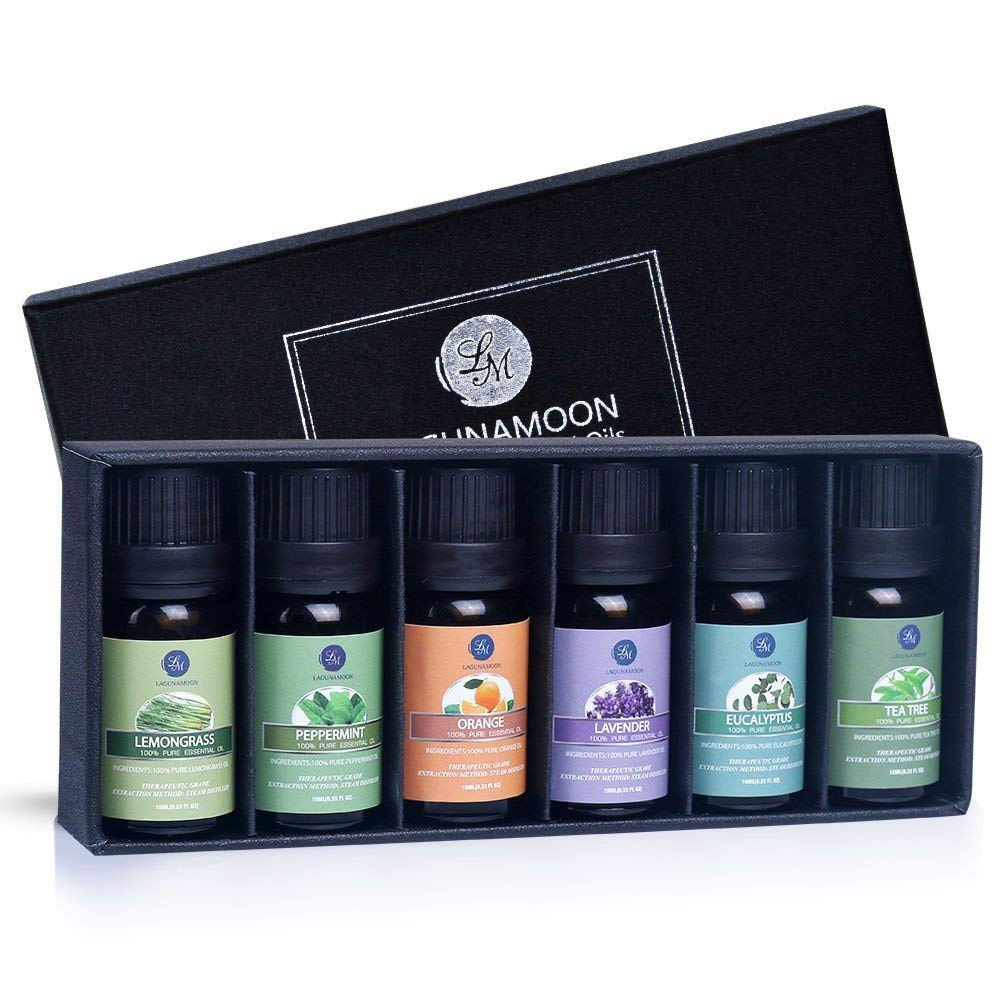 Lagunamoon Essential Oils  | Top 6 Gift Set Pure Essential Oils |  $9.99