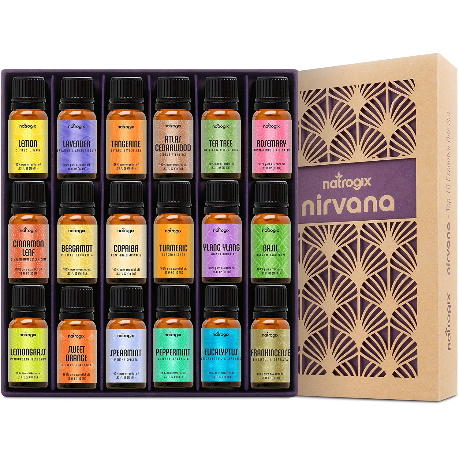 Natrogix Nirvana  | Top 18 Essential Oil Set |  $34.99