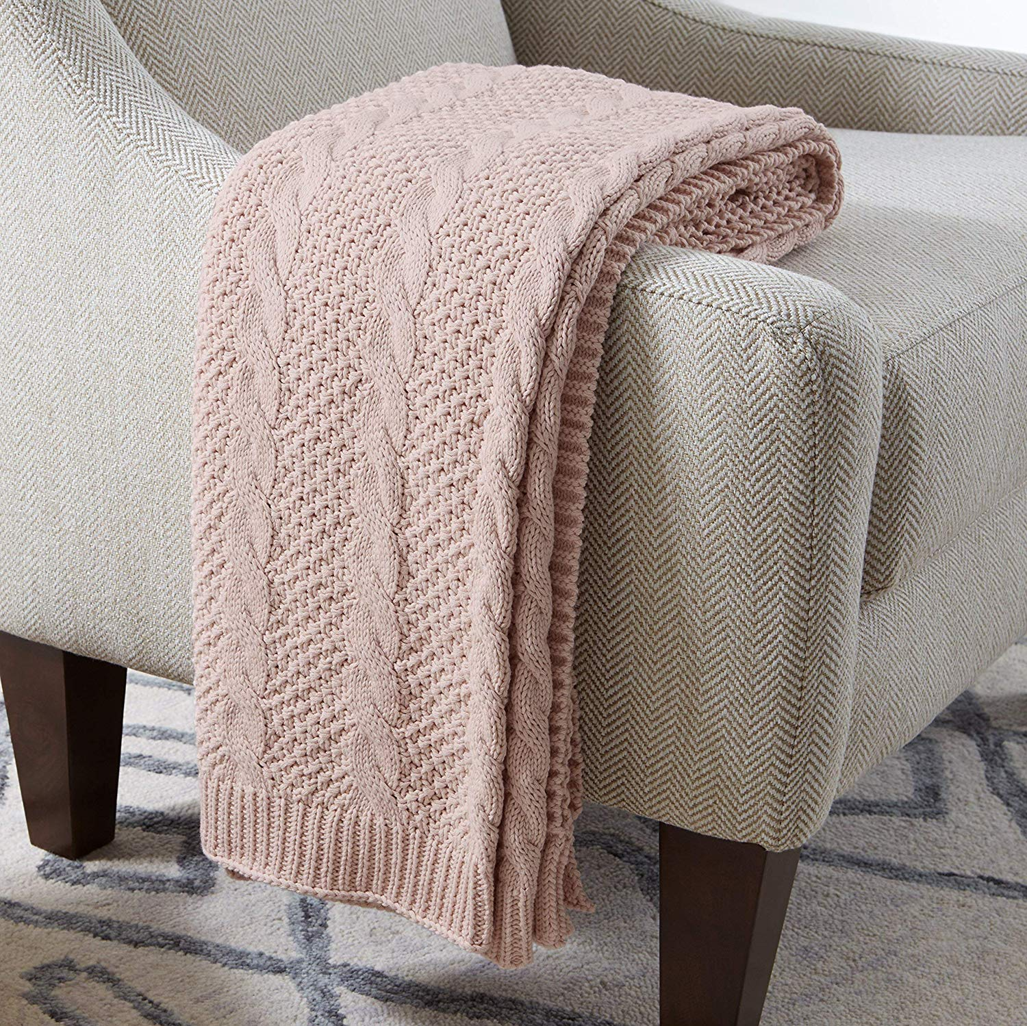 Stone & Beam  | Transitional Chunky Cable Knit Throw |  $59.99