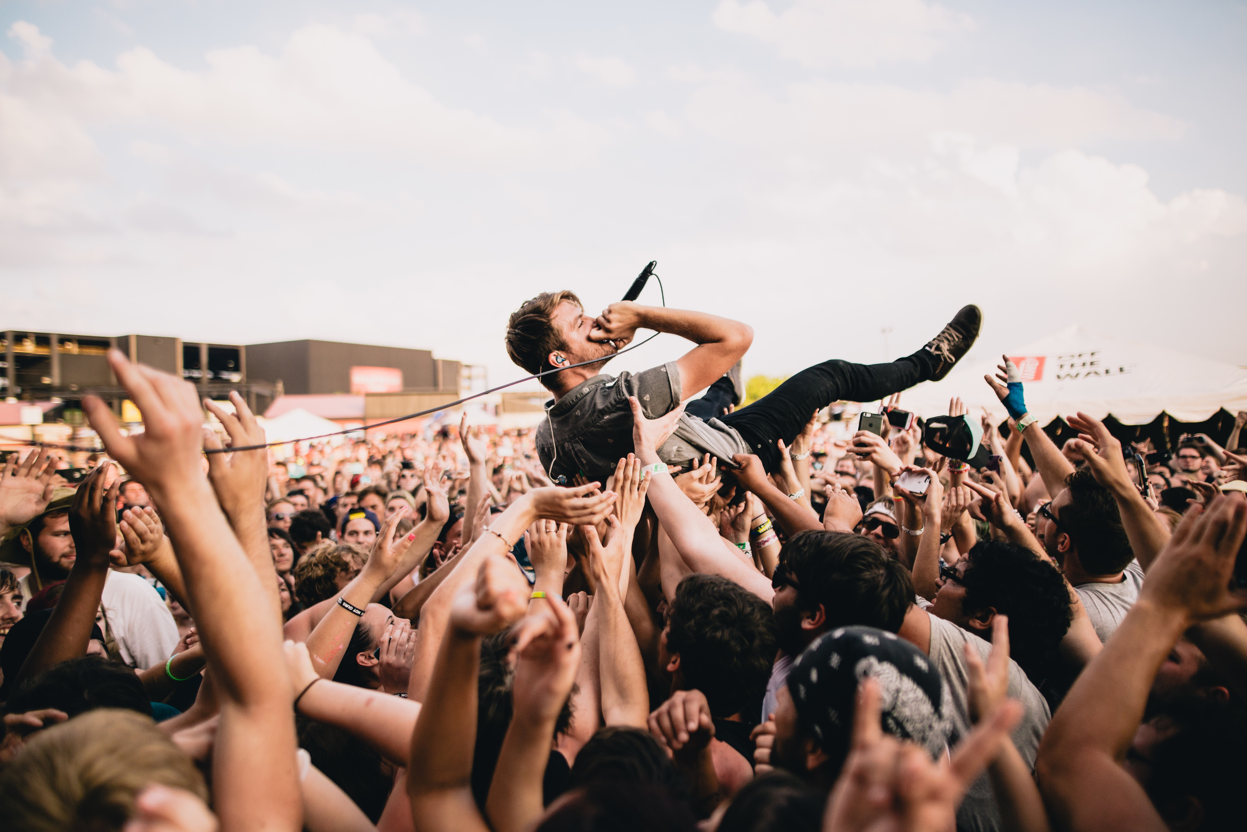 Hands Like Houses. Security physically ripped me down from the barrier about a quarter second after I took this.