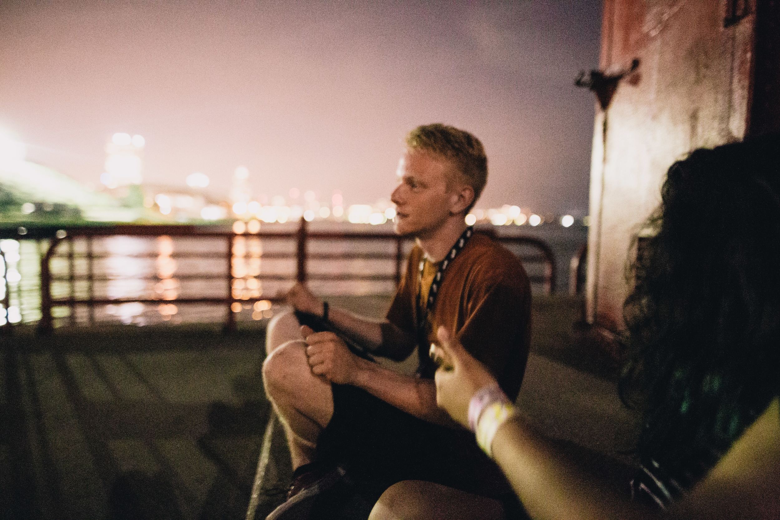 Me hanging at some lighthouse in the dark after the show. My friend Anam took this.
