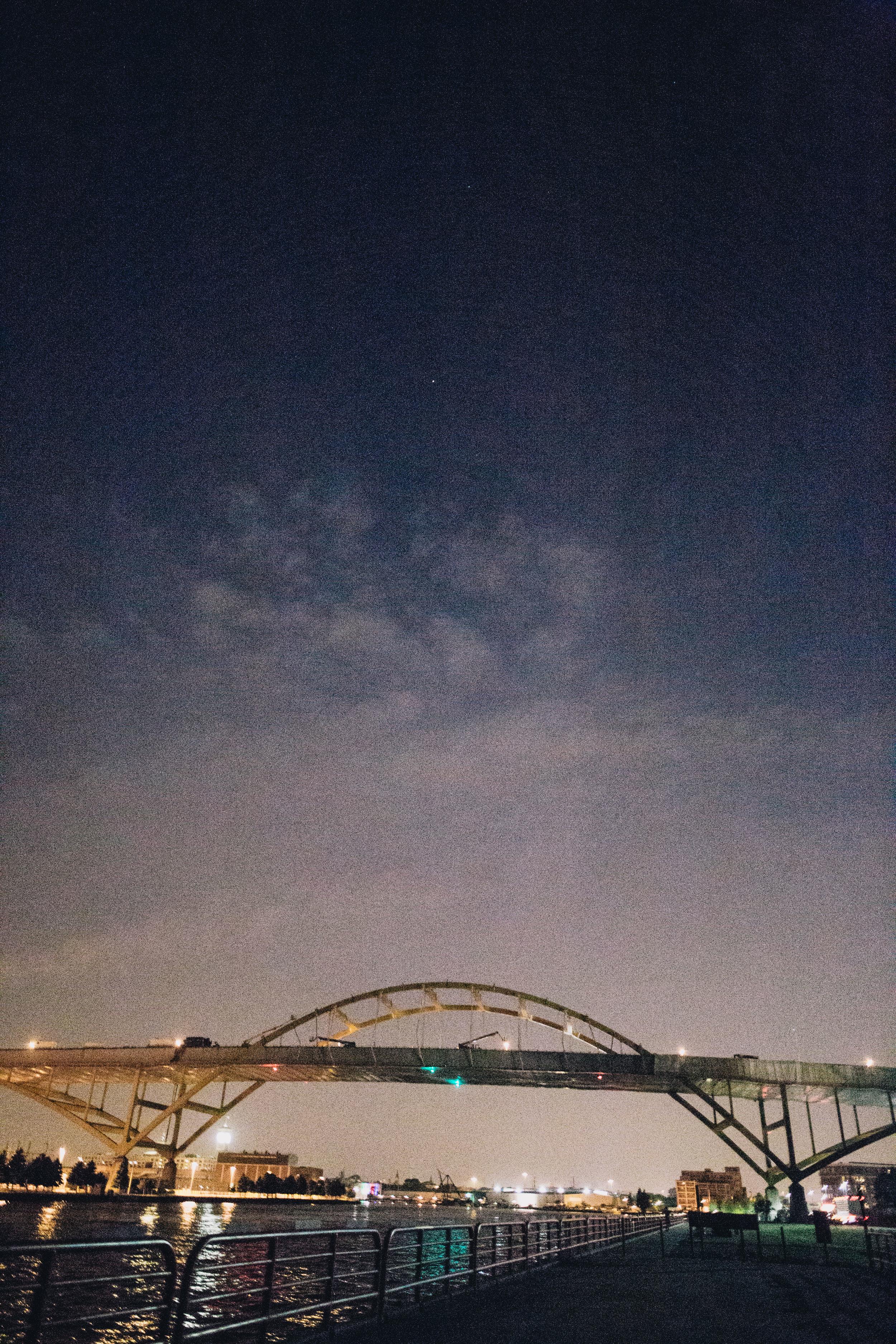 Some cool bridge we parked under. This was taken in the pitch dark.