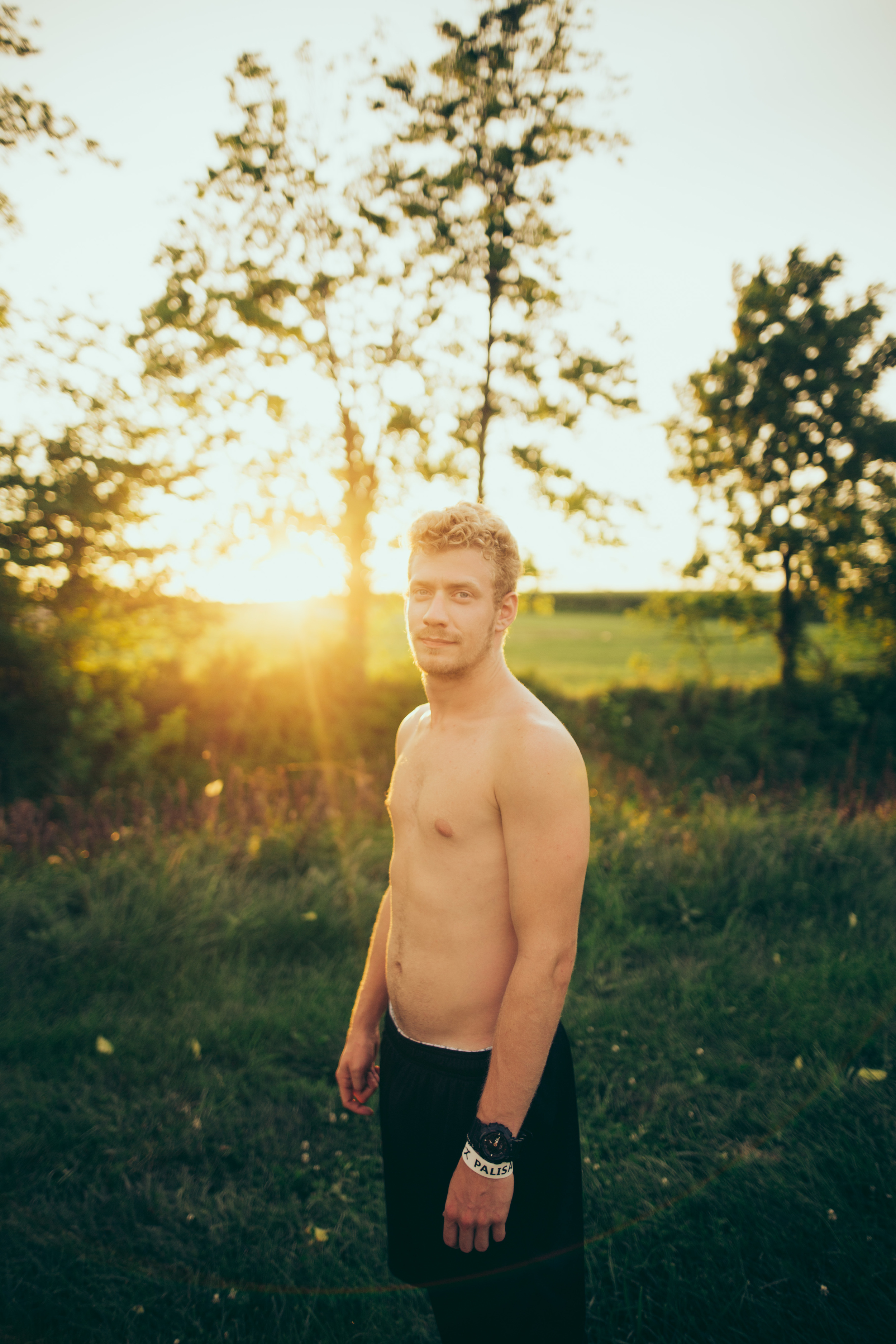 We had a nice sunset at least so I forced Will to pose for me.