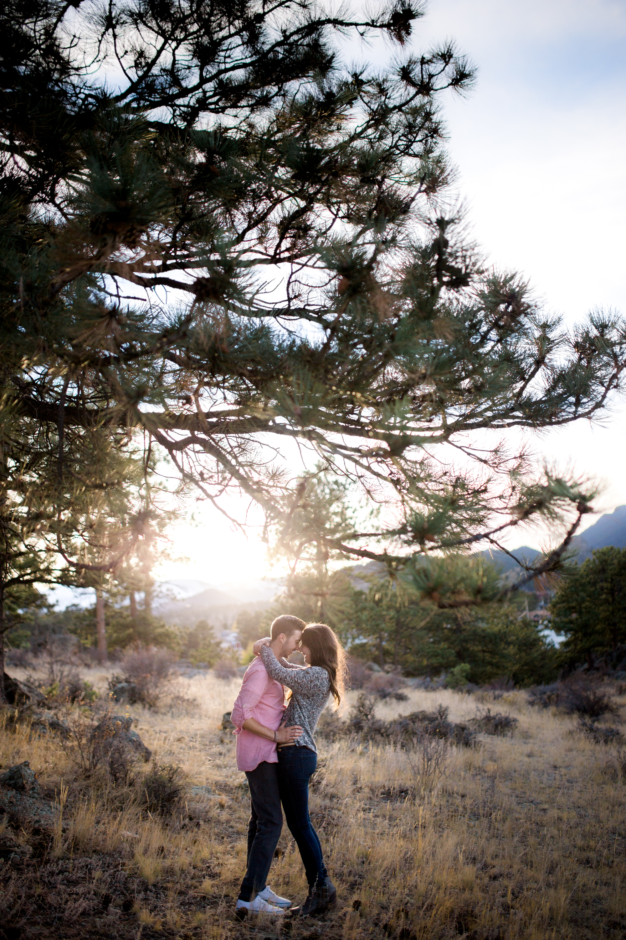 young couple artistic engagement photography