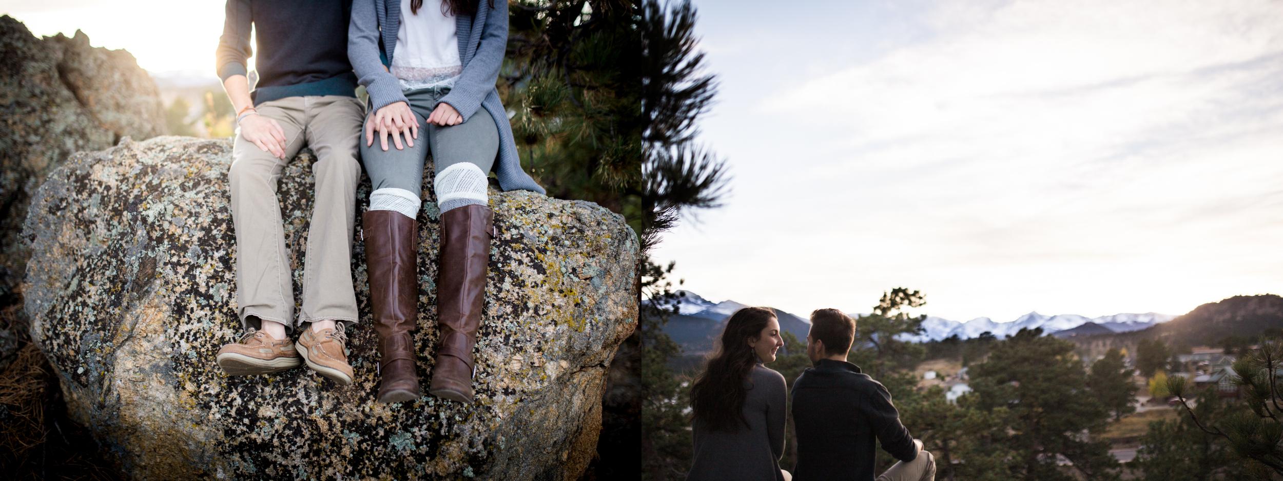creative couples engagement photography Estes Park