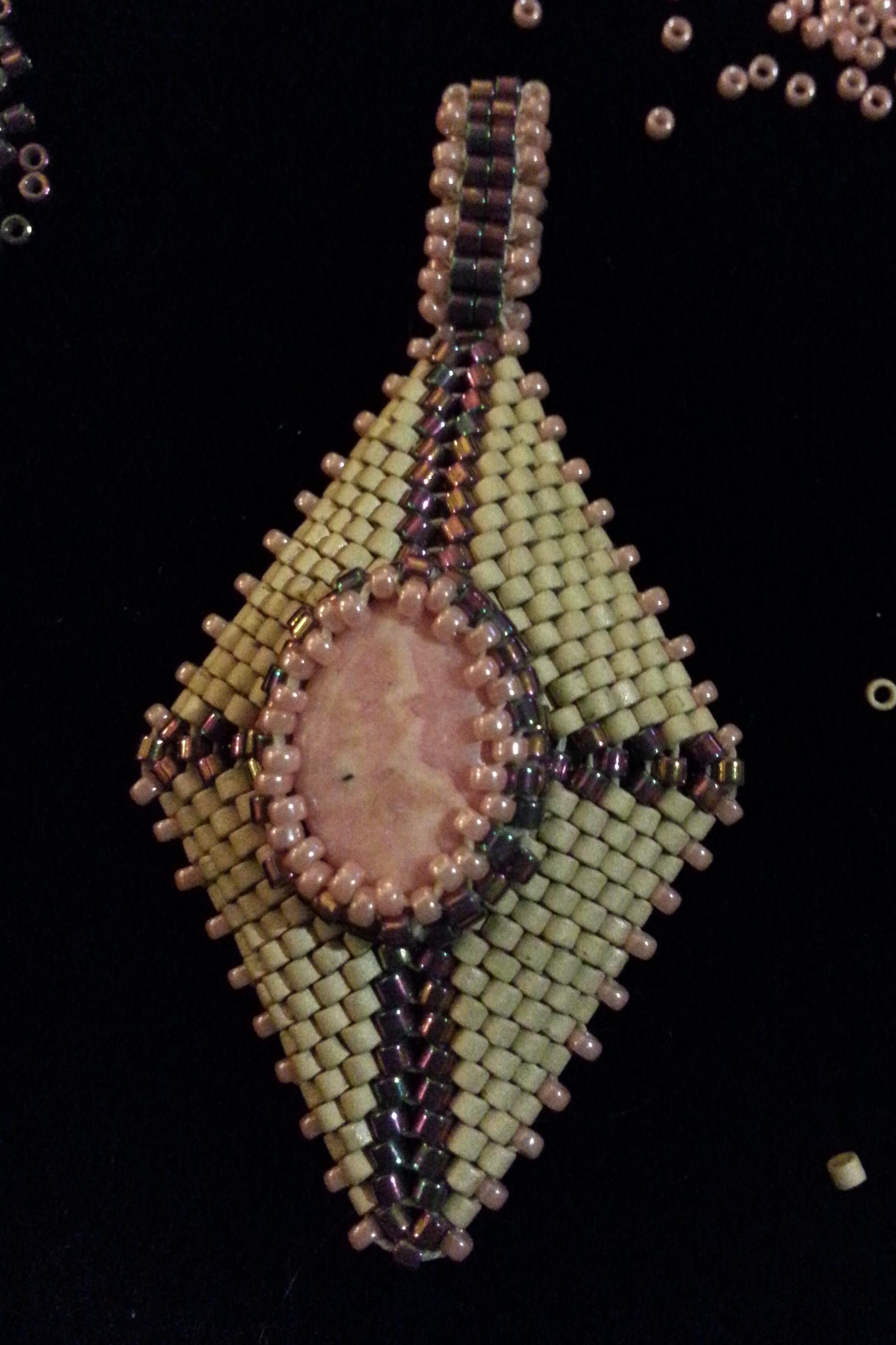 shaped peyote pendant rhodochrosite.jpg