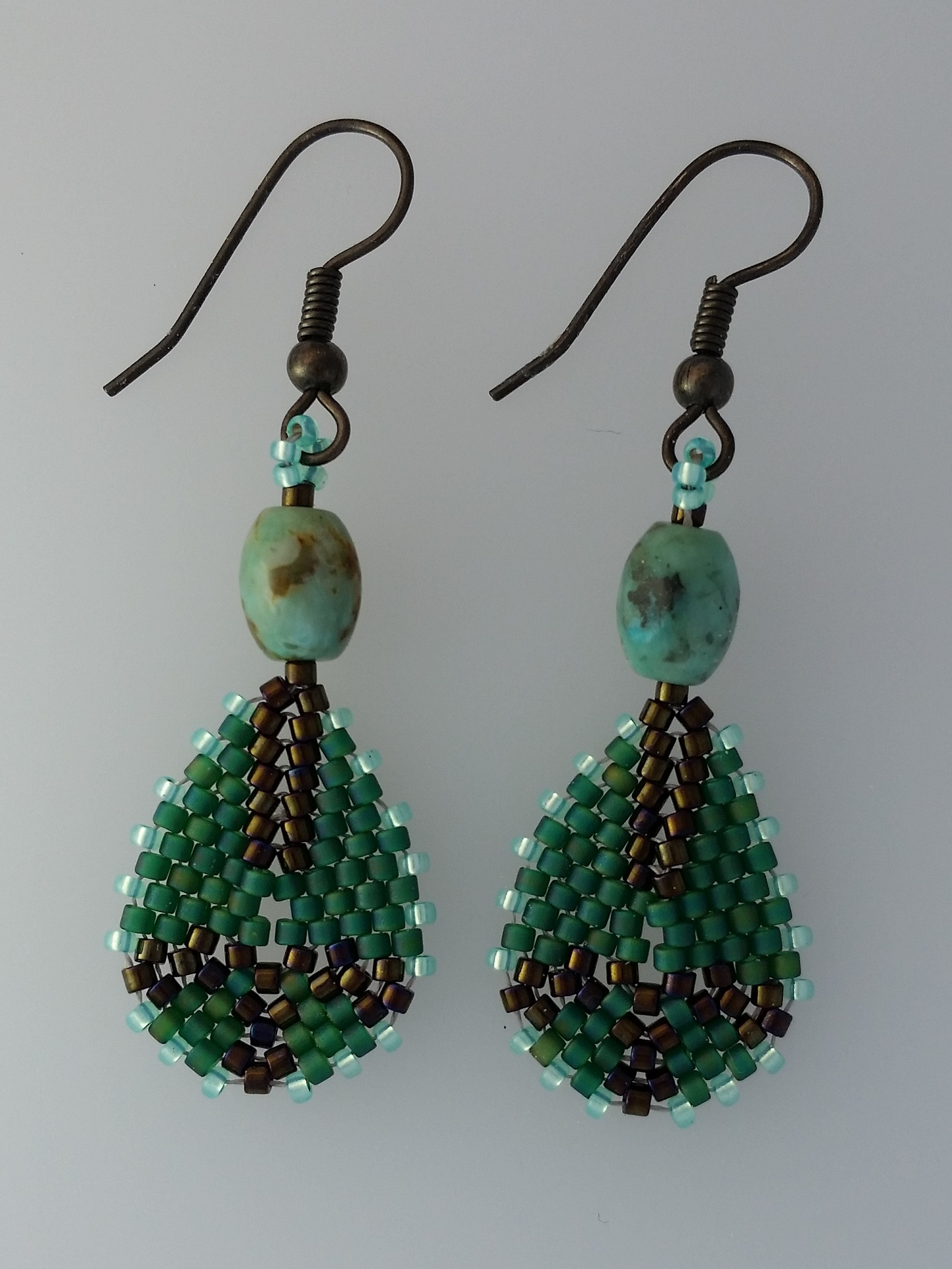 Teardrop with Turquoise Earrings 5.jpg