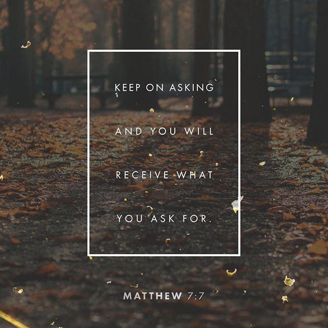 #Ask #Seek #Knock http://bible.com/116/mat.7.7.nlt