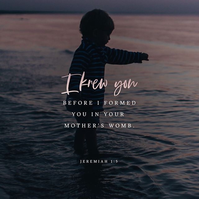 He KNEW you, does He KNOW you?  http://bible.com/116/jer.1.5.nlt