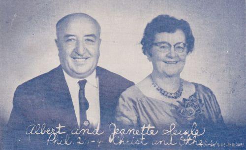 Rev. Albert & Mr.s Jeanette Seigle