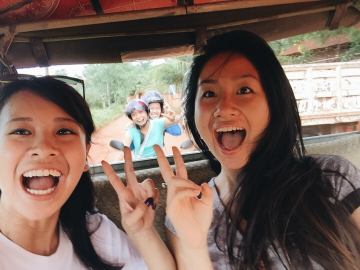 Shopping with our new Khmer friends!