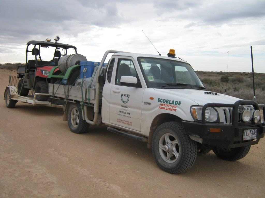 Interstate baiting programs have been a key feature of this unit, including a 230km baiting trail program at Mungo NP in NSW.