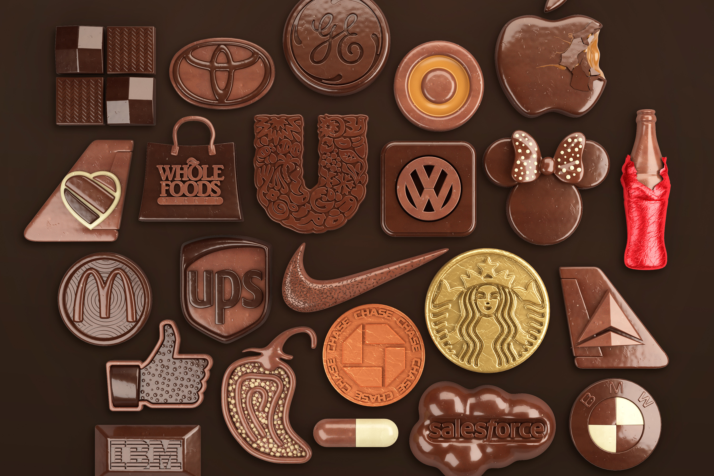 Chocolate logo illustration for fortune magazine