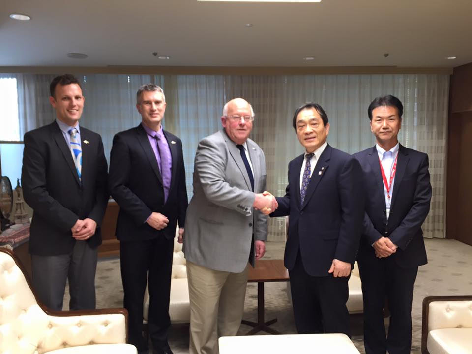 Meeting the Osaka Chamber of Commerce & Industry