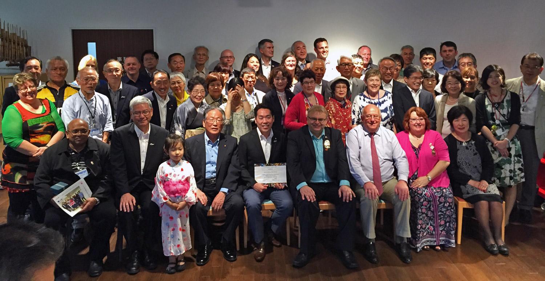 Mayoral delegation members welcomed by Minoh at MAFGA