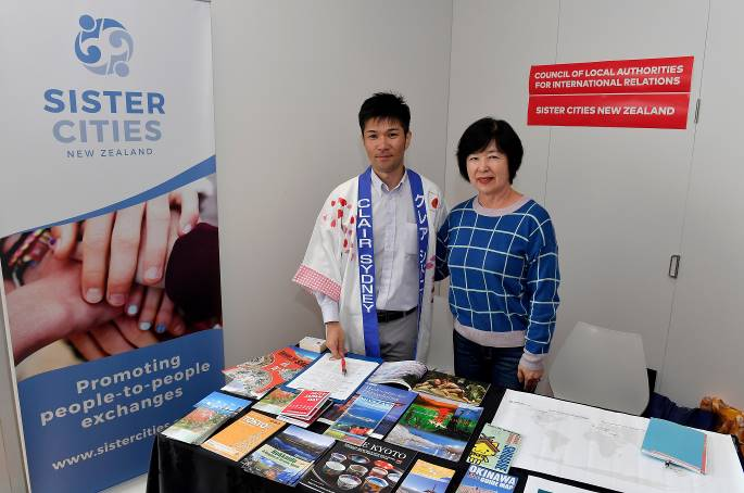 With Sister City New Zealand (SCNZ) President Hiromi Morris in Hutt Japan Day
