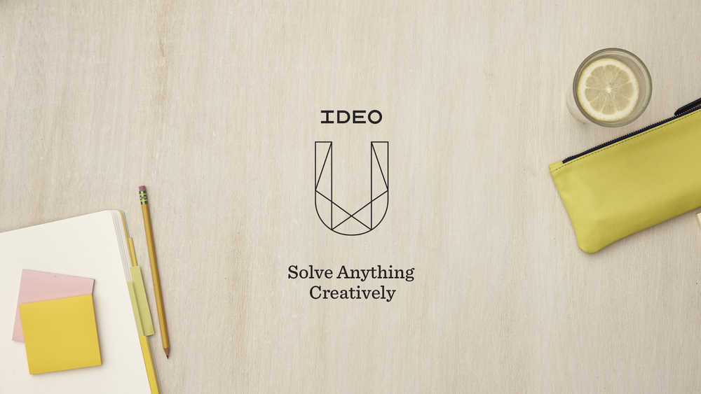 IDEO U focuses on courses based on their core expertise in innovation, creativity and storytelling