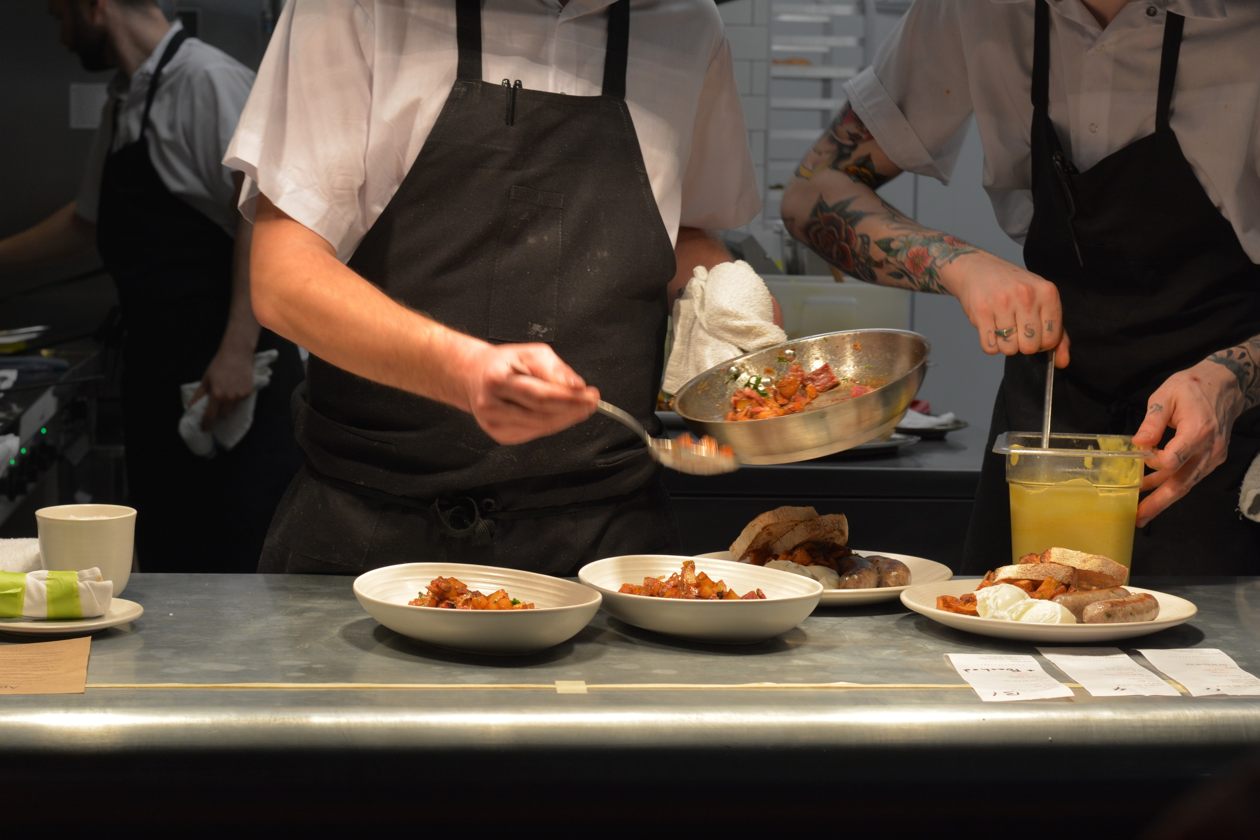 Brunch service at Agrius by Fol Epi // image by Chantal Ireland