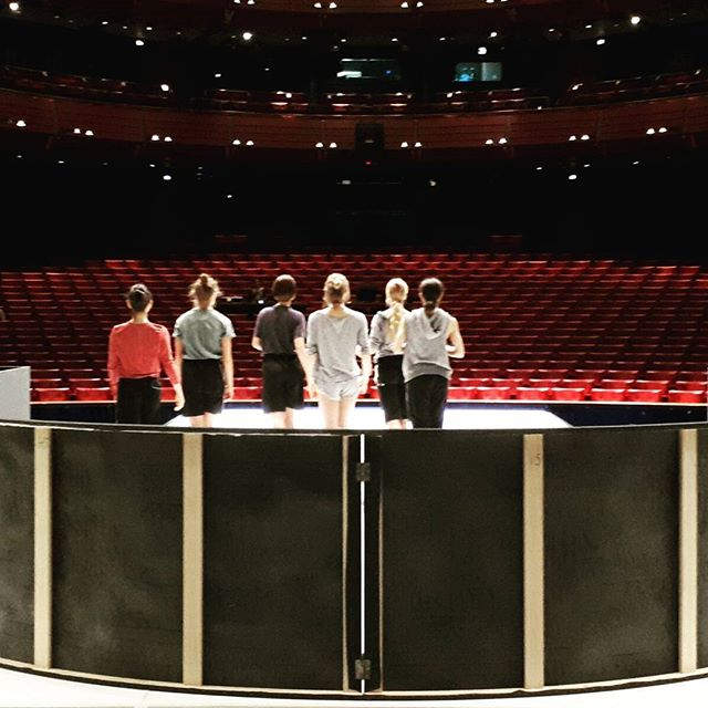 Building the stage, designed by Michal & Hagai from widstudio