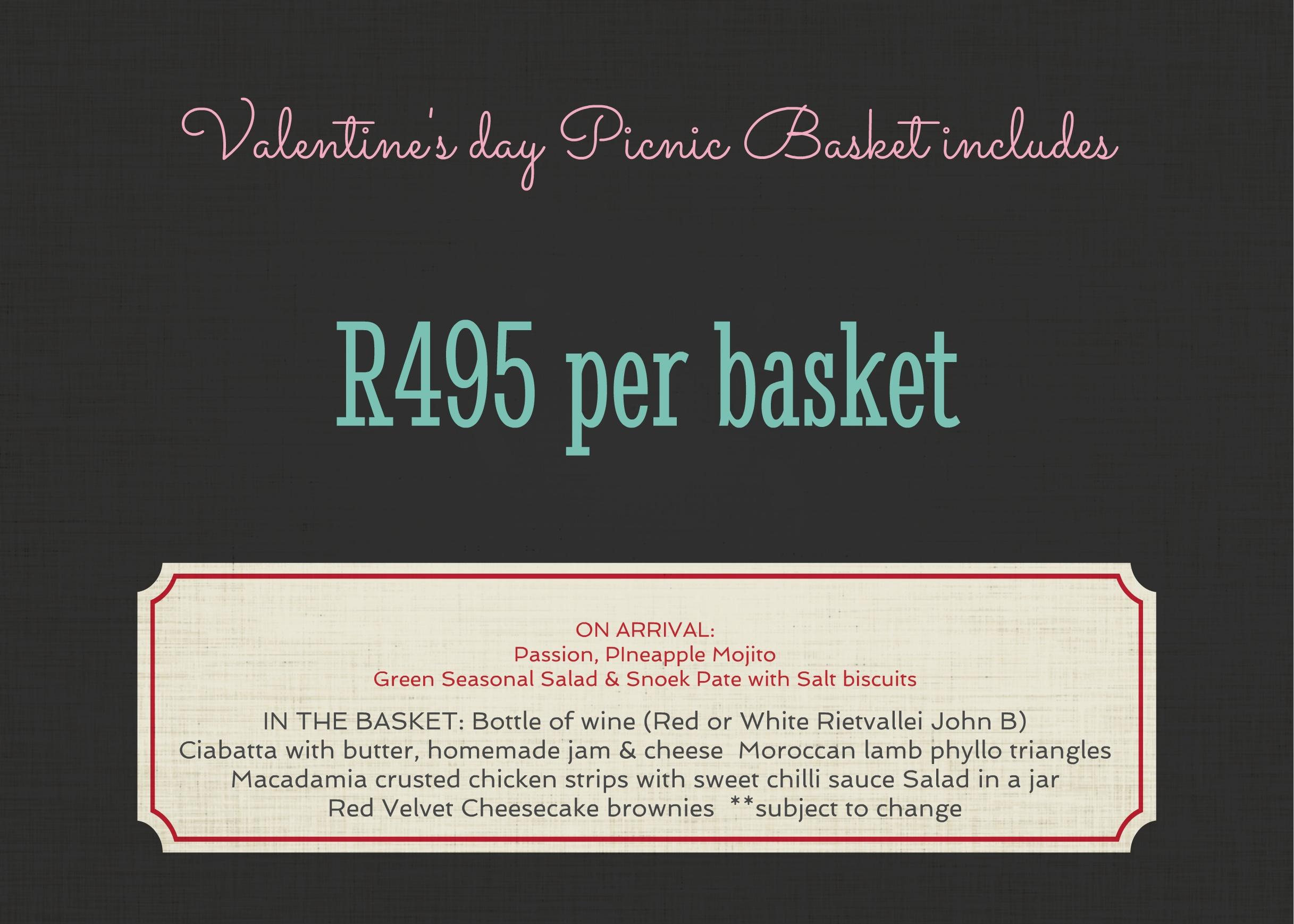 Picnic basket menu