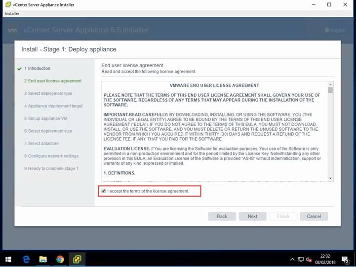 Installing vCenter 6 5 with an External Platform Services