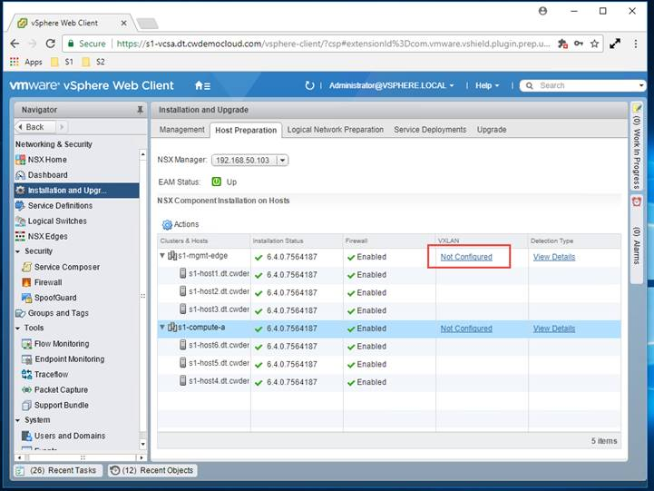 Deploying VMware NSX-V – Part 3 NSX Installation — Define