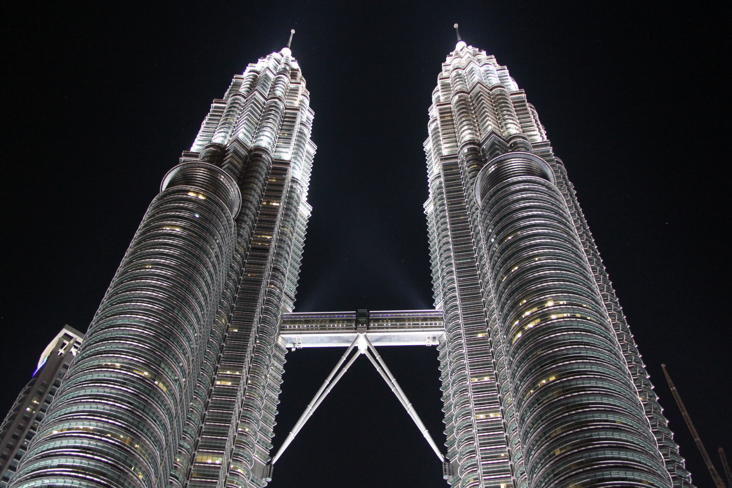 Petronis Towers at night