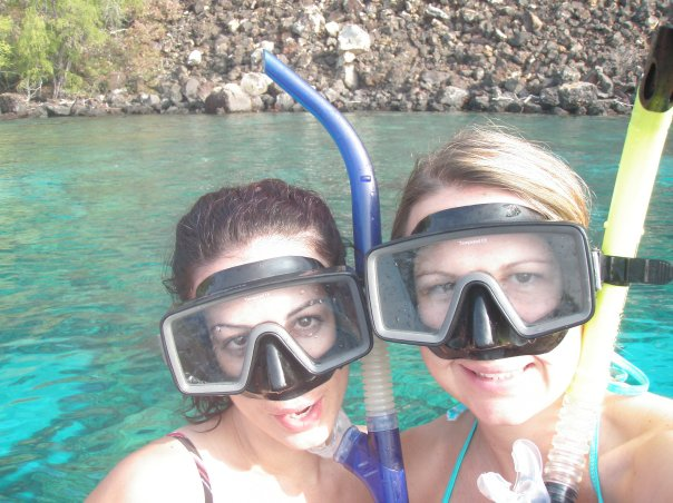 No one looks hot with a snorkel on!