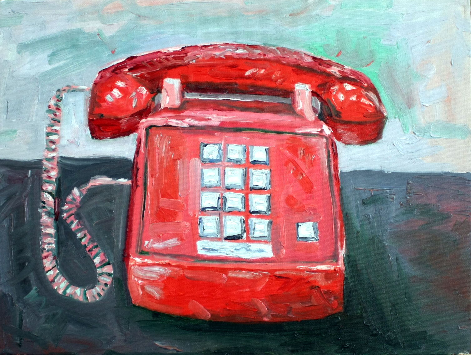 Red Telephone in an Apocalyptic Landscape