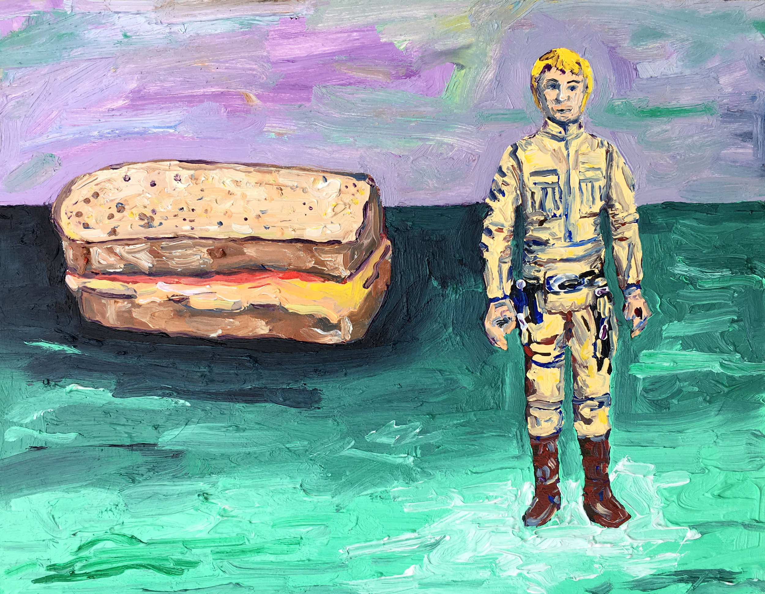 Untitled (1980 Luke and a Ketchup and Mustard Sandwich)