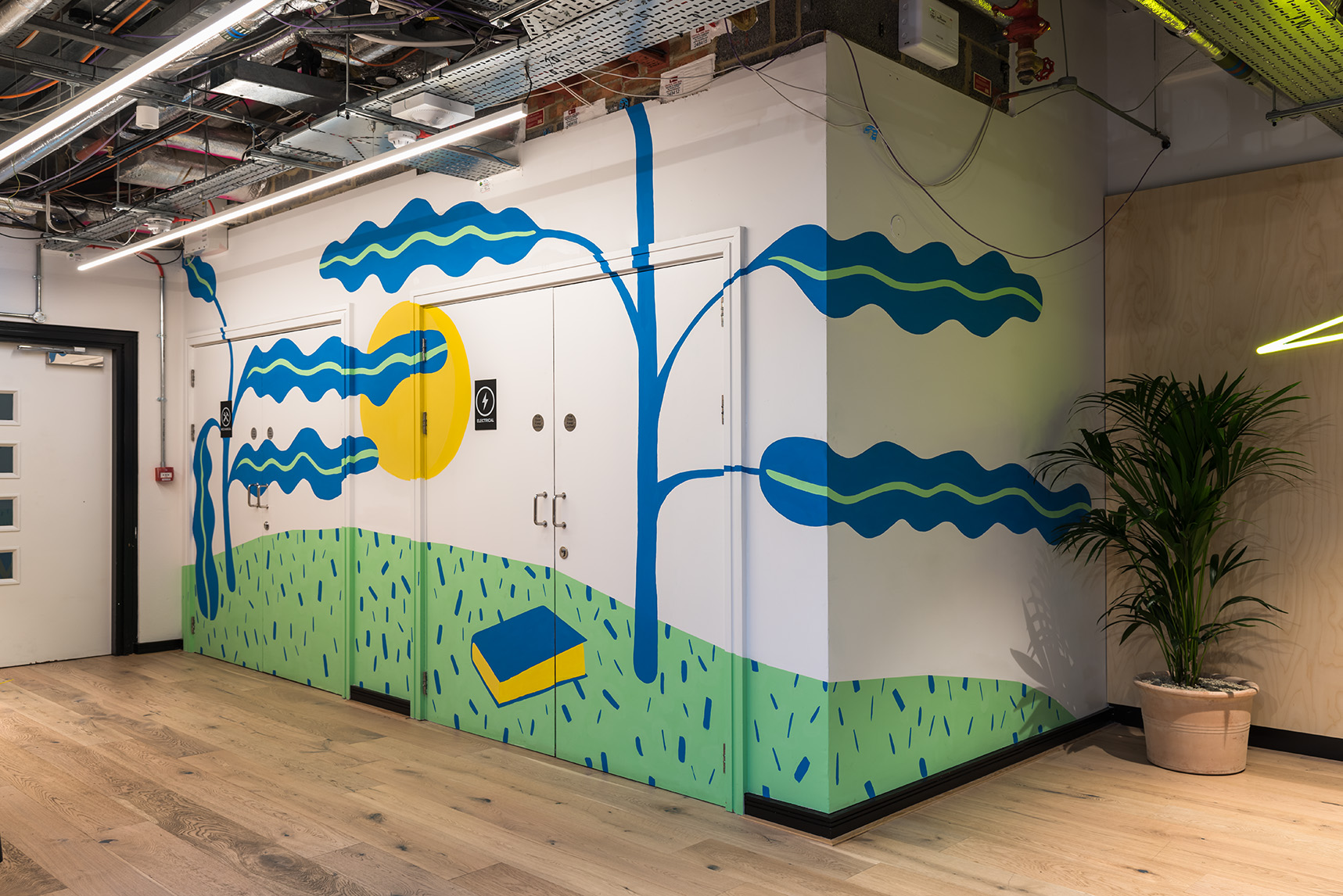 the london mural company x WeWork Waterloo house