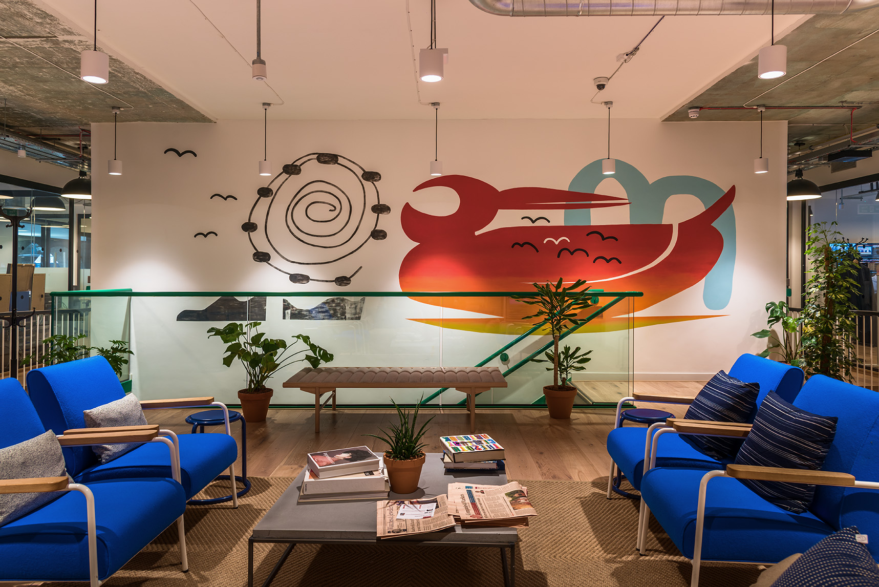 The London mural company x WeWork International House 1