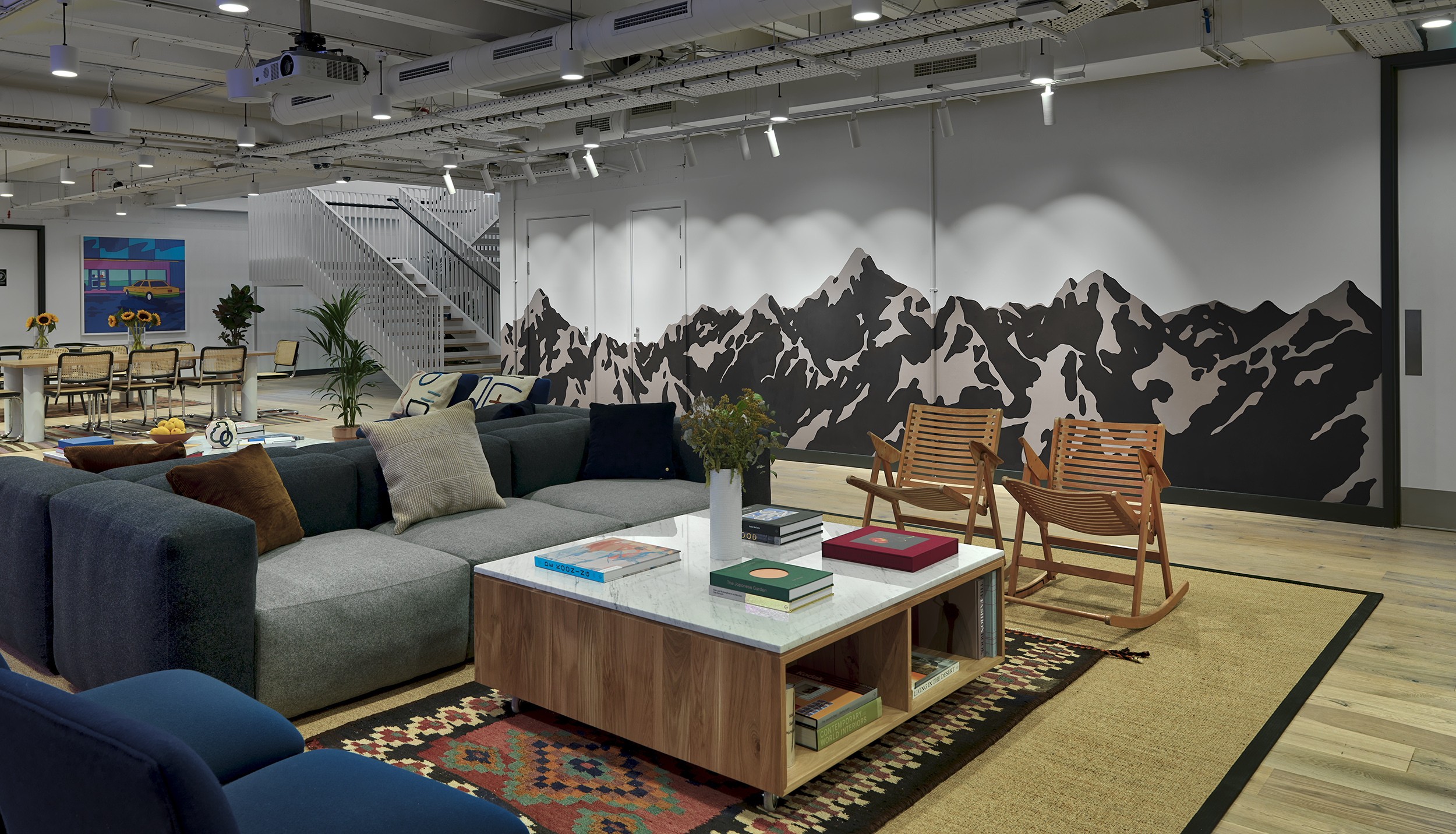 Wework Moorgate x The London Mural Company