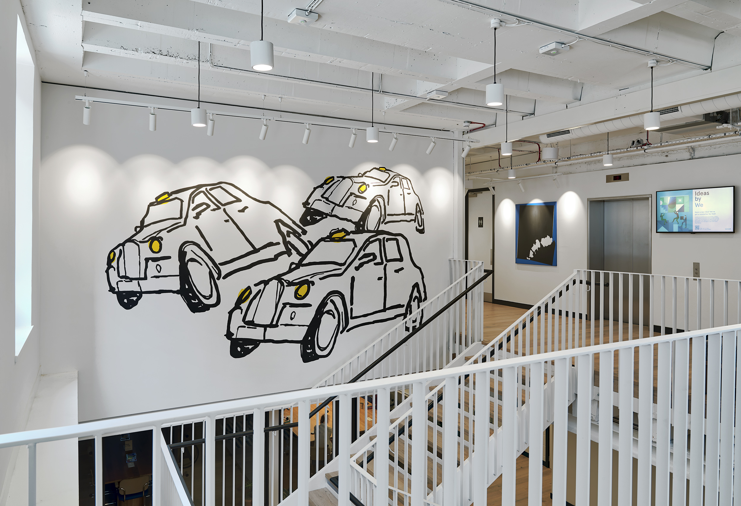 Wework Moorgate x The London Mural Company 3