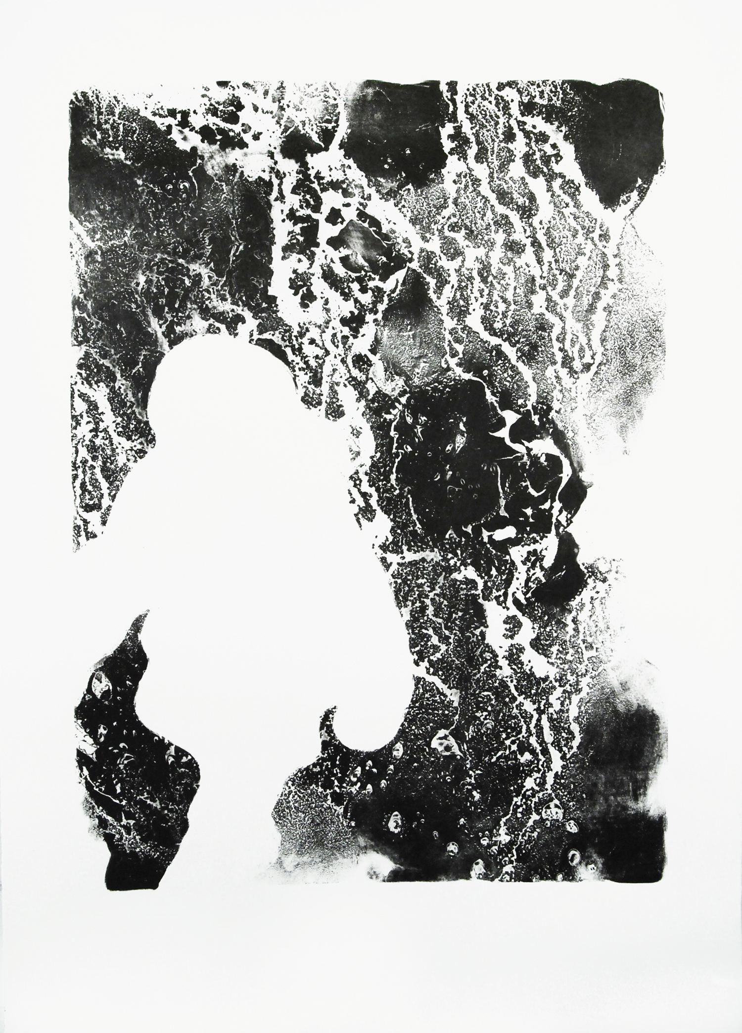 Departure 1 , stone lithography (石板画), 22x30 inches, edition of 2, 2014