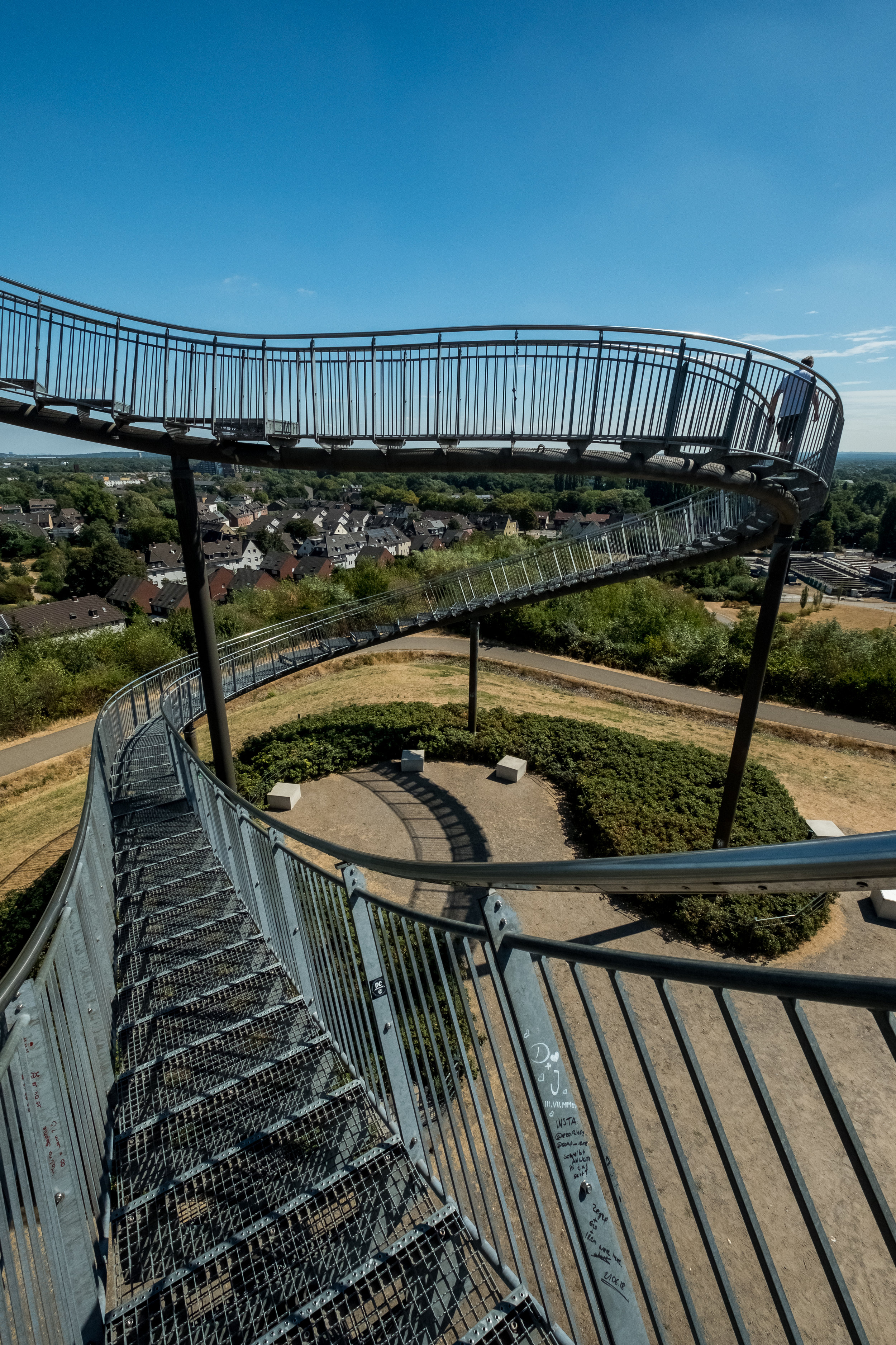 The farthest reaches of the Tiger & Turtle sculpture before meeting in the inaccessible loop