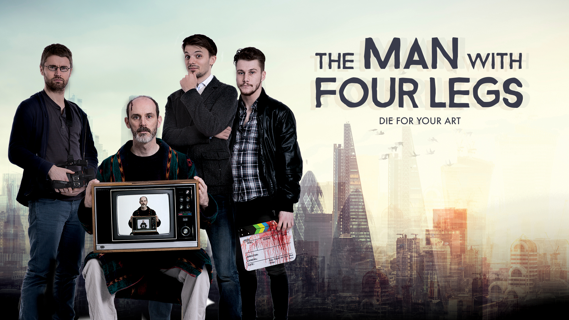 """THE MAN WITH FOUR LEGS - FEATURE FILM    """"Elegantly disturbing... The Man With Four Legs  is a genre-busting whirlwind of beautiful yet insidious artistry.""""  - Film Enquiry."""