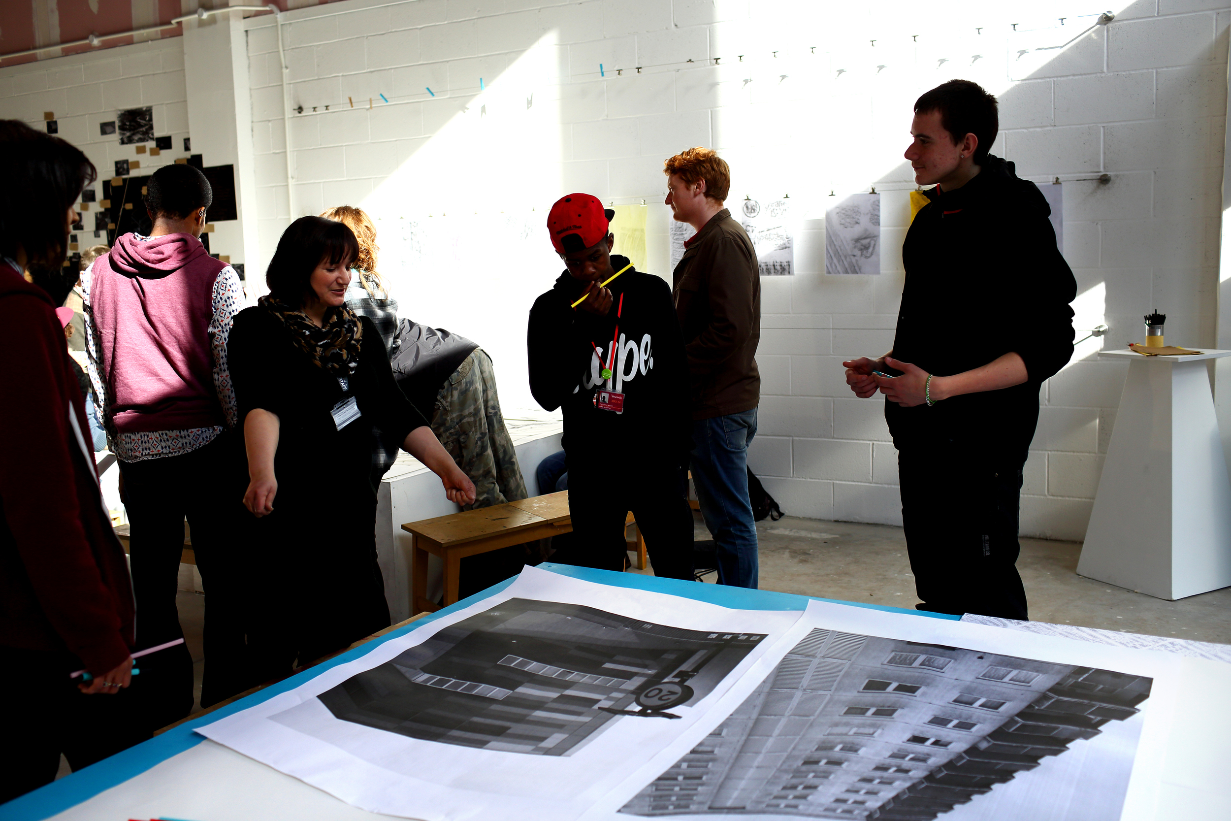 'Art Week' with Bournville College students who explored the new architecture of Longbridge.