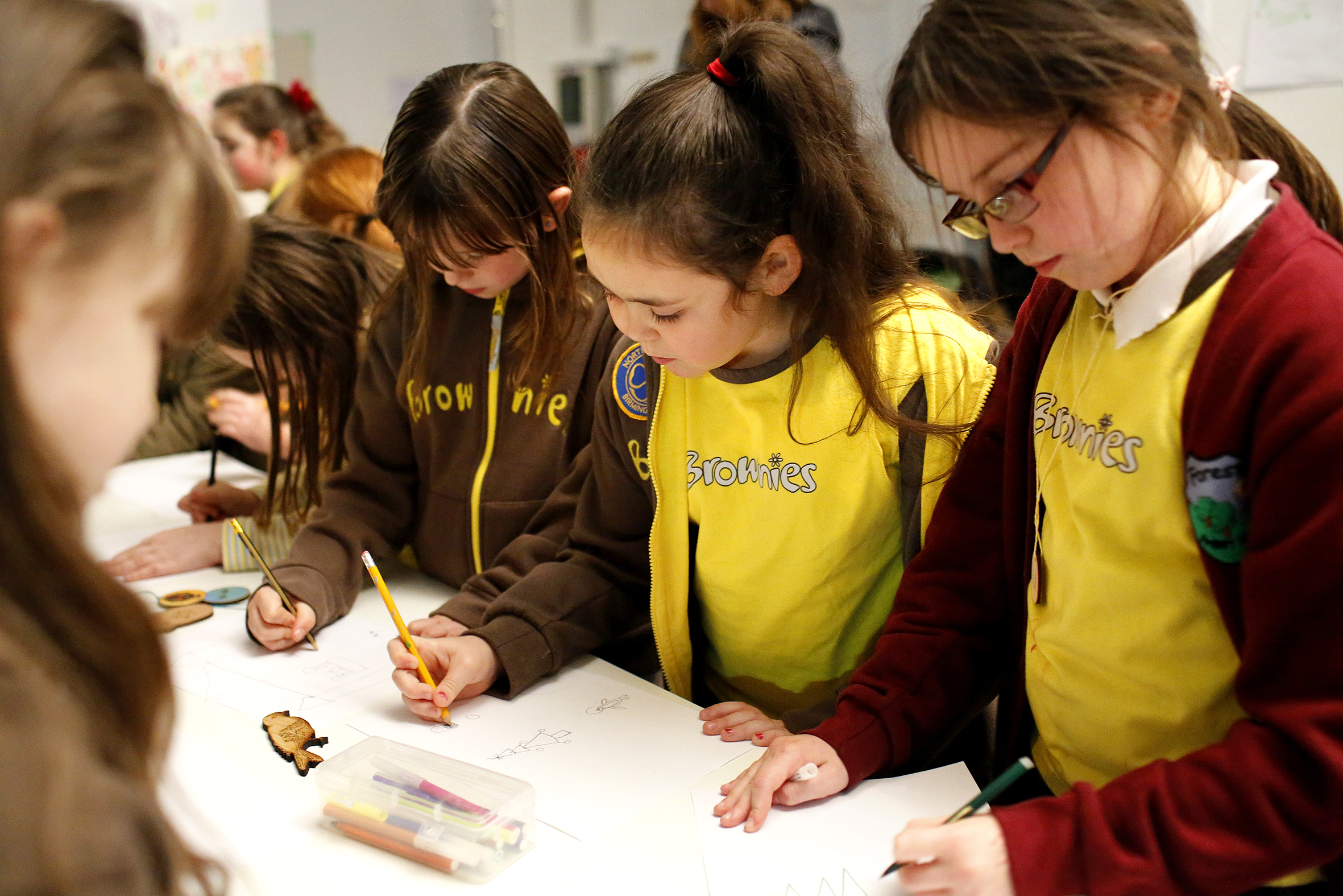 Digital Longbridge workshop with Birmingham 271st Brownies