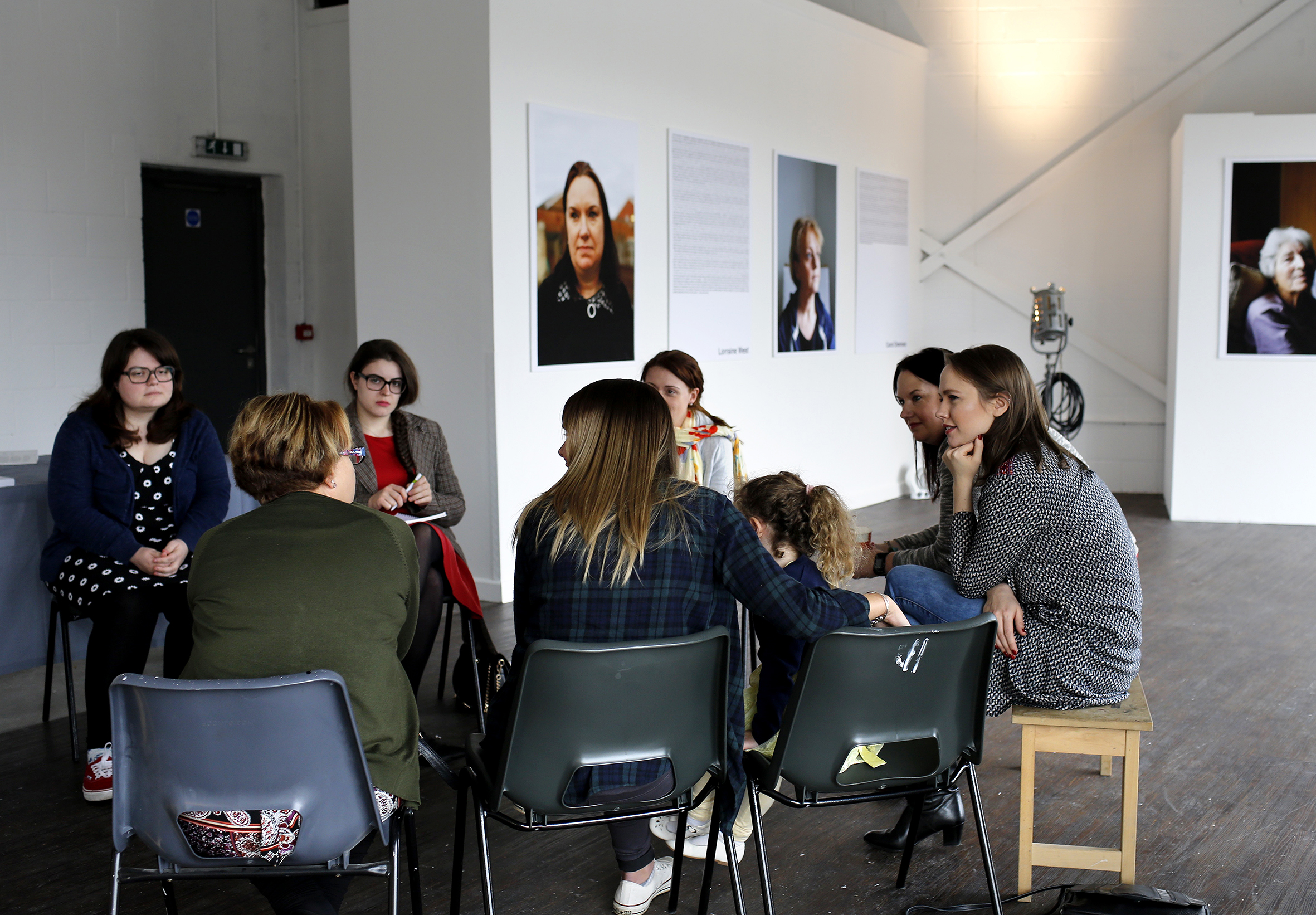 All of the women who were involved in the 'Women of Longbridge' project were invited to take part in a discussion about the project and to talk about what is happening now in Longbridge and its history.